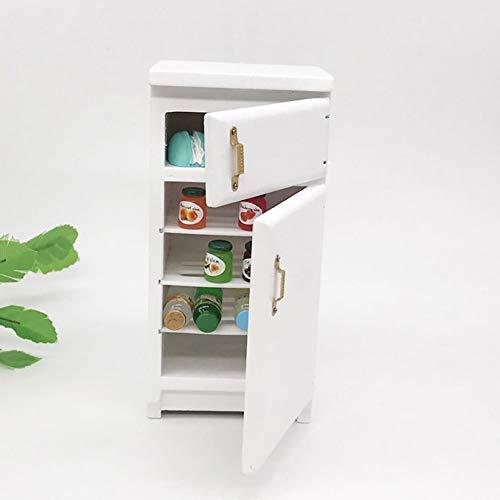Ruby569y Puppenhaus-Zubehör für Heimwerker, Maßstab 1:12 für Mini-Kühlschrank, Kühlschrank, Puppenhaus, Möbel, Dekoration, Kinderspielzeug Multi (12 1 Kühlschrank Maßstab)