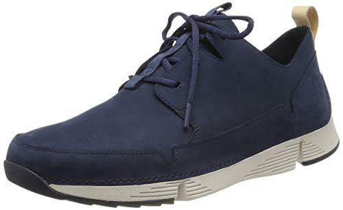 Clarks Herren Tri Solar Sneaker, Blau Navy Combi, 47 EU -