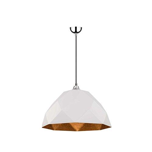 Paris Prix Lampe Suspension Moderne rich 35cm Blanc & Cuivre