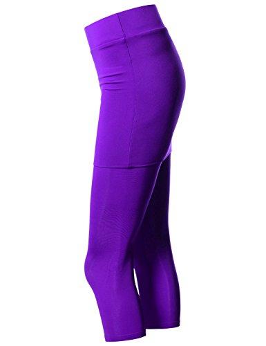 Nearkin Damen Leggings, Durchgehend NKNKWS7L-PURPLE