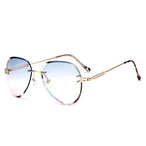 NauyGnol Sonnenbrille für Damen, Herren, UV400, transparent, Vintage, Blau/Rot Gr. Einheitsgröße, 5-blue