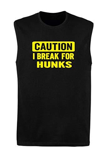 T-Shirt Mann armellos Schwarz FUN0355 328 Brake 4 Hunks 89152