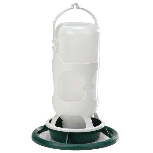 Beeztees Omnia Fauna mangiatoia abbeveratoio o con Bottiglia di plastica, Verde/Bianco