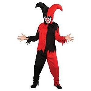 Kind Creepy Jester Karneval / Halloween-Kostüm Größe Mittel