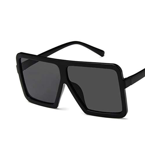 Monllack Mode Große Quadratische Form Frauen Männer Sonnenbrille UV400 Brillen Sonnenbrillen Hip Hop Allgleiches Sonnenbrille PC Rahmen Harz Objektiv