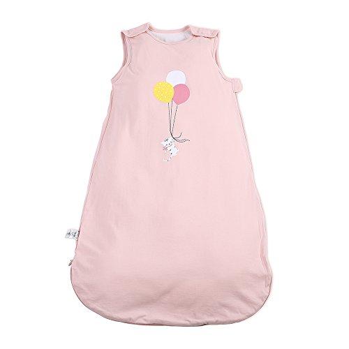 i-baby Sacos de Dormir Infatiles Bebé Niños Niñas Sin Mangas Bolsas de Dormir Suenos para Recién Nacido Pijama Mantas de Algodón Recubierto con Cremallera para 1 2 3 años Bonito Rosa 3 TOG
