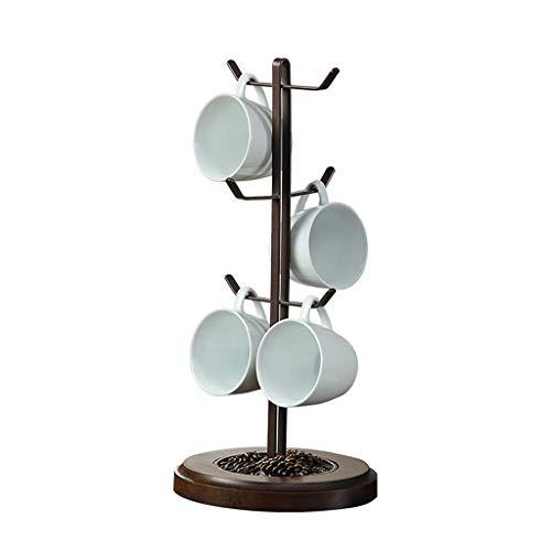 O&YQ Kreativer Stand-Alone-Becherhalter, Becherhalter, Tissue-Becher/Kaffeetasse/Teetassenaufbewahrung für bis zu 6 Tassen Stand-alone-rack