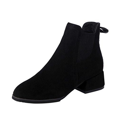 IGEMY Bottes de Neige Femme Noir