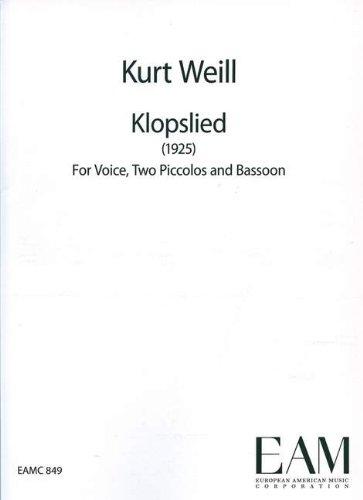 Klops Lied: Singstimme, 2 Piccolo-Flöten und Fagott. Partitur und Stimmen.