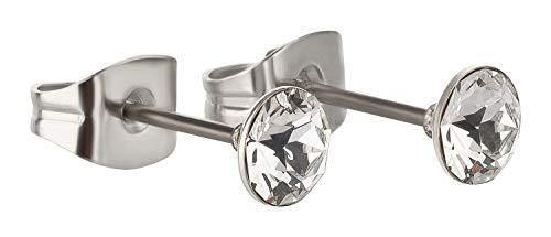du Beau Ohrring/Ohrstecker mit Swarovski Elements Kristall 4mm - Ohrstecker Kristall