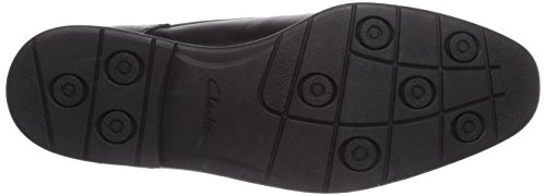 Clarks Glenrise Walk, Derby Homme Noir (Black Leather)