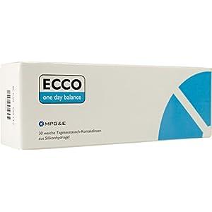 ECCO One Day Balance Spheric Silikonhydrogel weich, 30 Stück Tageslinsen/BC 8.60 mm/DIA 14.2