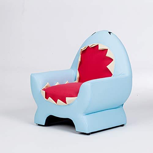 YXLHJY Pu Leder Kinder polsterstuhl, Kinder Sofa für Jungen Baby niedliche Tier kleines Sofa Kleinkind Lazy Couch Stuhl Cartoon-kindersitz-Blau