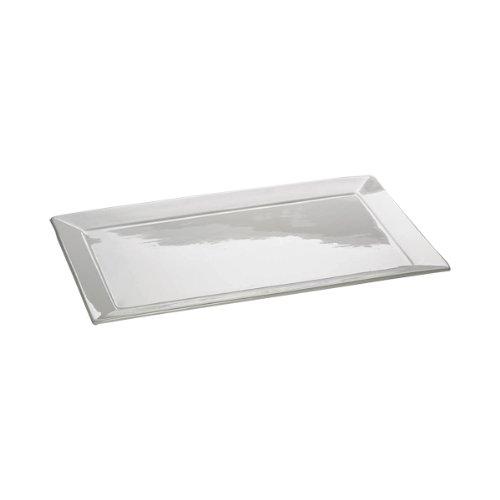 Maxwell & Williams AA1542 Square Platte, Servierplatte, eckig, mit Rand, 45 x 28 cm, in Geschenkbox, Porzellan White Square Platte