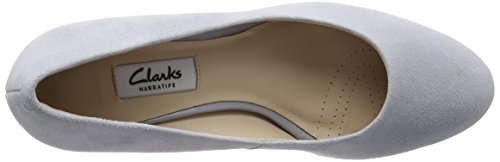 Clarks Damen Kelda Hope Pumps Grau (Grey/Blue Suede)