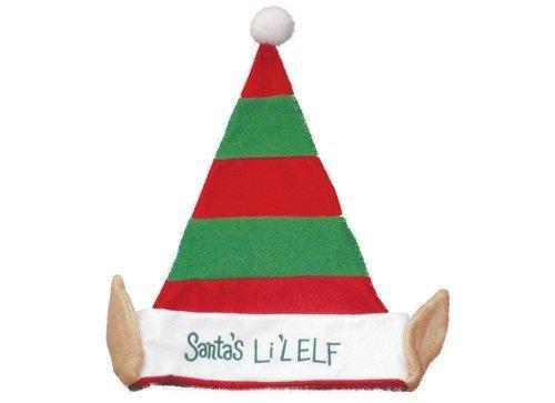 Der Lil Elf Rot/Grüner Weihnachts Hut von Santas (PM172) - Lil Elf