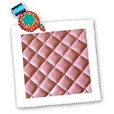3dRose LLC Quilt, Leder, quadratisch, 25,4 x 25,4 cm, Rosa