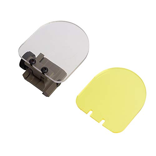 FOCUHUNTER Cubierta de Lente - Lente Plegable Airsoft Lens Rifle Scopes Red Dot Sight Tactical Scope Lens para Caza (Bronceado)