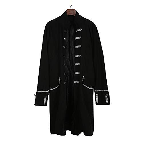 Vintage Kostüm Lamm - UFODB Gothic Herren Punk Mantel Lange Jacke Steampunk Vintage Frack Viktorianischen Langer Fasching Karneval Cosplay Kostüm Smoking Uniform
