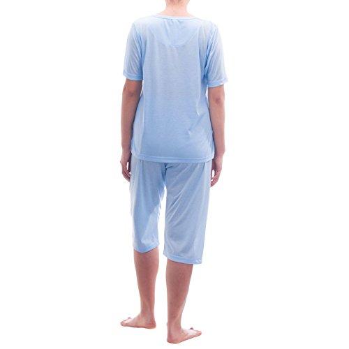 Lucky pyjama à manches longues avec motif imprimé graphique Bleu - Bleu clair