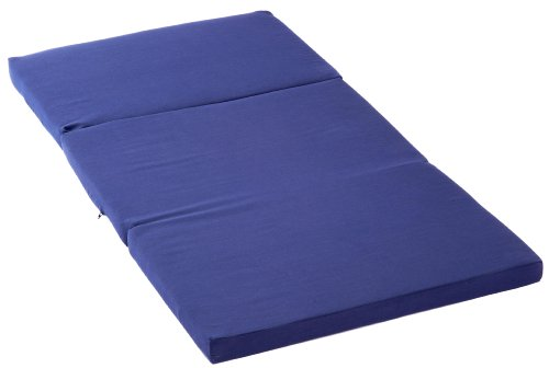Kettler Reisebettmatratze für Kinder – faltbares Reisebett mit Schutzhülle – Matratze 60x120 – atmungsaktive, waschbare Klappmatratze aus Baumwolle mit Fliesfüllung – blau