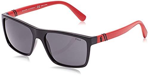 Ralph lauren polo 0ph4133 occhiali da sole, nero (shiny black), 59 uomo