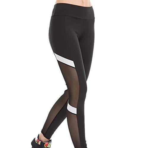 YEHAOFEI 2019 gestreifte nähende Ineinander greifenyoga-Gamaschen der Frauen, Yoga trägt reizvolle dünne Gamaschen zur Schau Schwarz XL -
