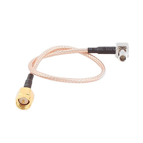 sourcing map 20cm MS147 Stecker auf SMA-Stecker RG316 Koaxialkabel Pigtail