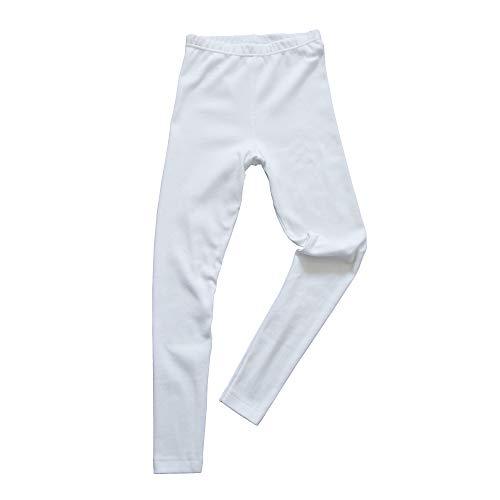HERMKO 2720 Kinder Legging Unisex aus 100% Bio-Baumwolle für Mädchen und Knaben, Farbe:weiß, Größe:116
