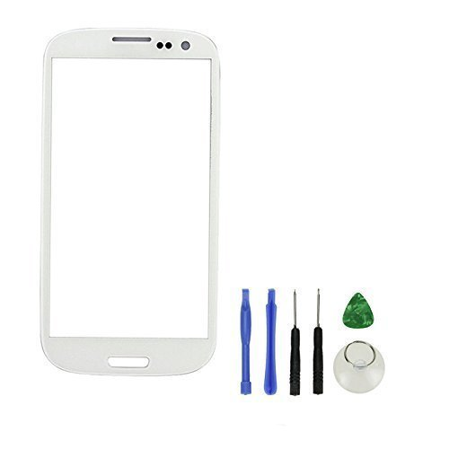 Pantalla Romote blanca delantera Sustitución lente de cristal para Samsung i9300 Galaxy S3 SIII & Tool