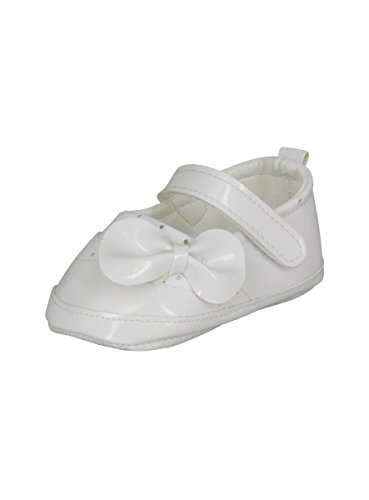 Boutique-Magique Chaussons de Baptême Bébé Fille Blanc