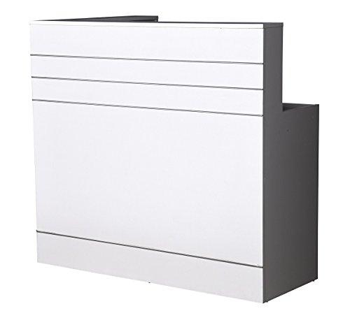 Neue Empfangstheke Empfangstresen weiss, 120cm x 70 cm Rezeption Empfang Verkaufstheke Bürotheke...