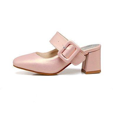 LvYuan Da donna Sandali Finta pelle Fibbia Quadrato Bianco Argento Blu Rosa 5 - 7 cm blushing pink