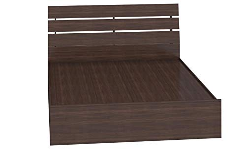 Bharat Lifestyle Havana Queen Size Solid Wood Bed With Box Storage (Matte Finish, Wenge)