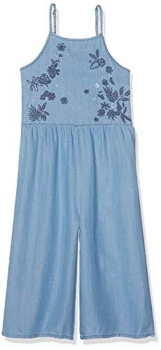 105c89ab189e84 IKKS Junior Combinaison Fluide Tencel Combinaison Fille Bleu (Medium Blue  86) 8 Ans (