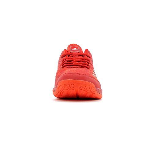 adidas Ligra 5, Scarpe da Pallavolo Uomo Rosso (Scarlet/energy/silver Metallic)