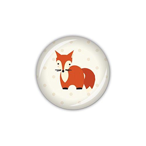 lijelove® Button 25mm Ø FOXY DOTS Fuchs (Art. 04-01U2) -