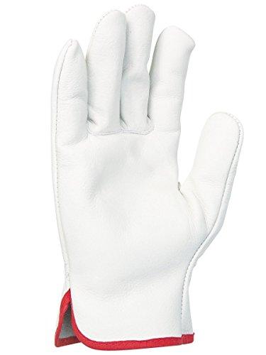Singer Paire de gants tout fleur de bovin. Coloris naturel. Serrage élastique 56GN10 Taille 11