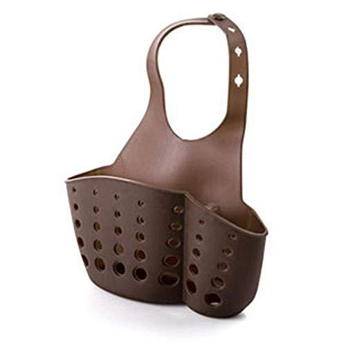 Schwammhalter Waschbecken Halter Regale Hängen Drain Bag Korb Bad Lagerung Gadget Werkzeuge Seifenhalter Küche Dish Clothstorag Brown