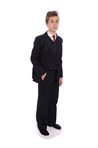 Jungen-Anzug, Schwarz, 5-teilig, 1-15Jahre Gr. 15 Jahre, schwarz
