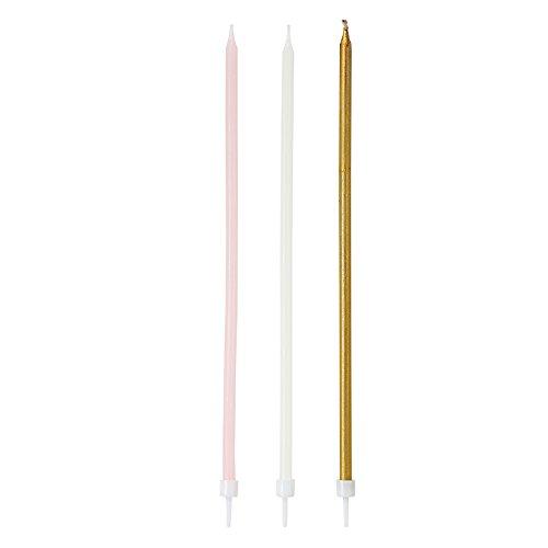 Talking Tables PINK-CANDLE Wir lieben Rosa Lange dünne Kerzen, Pappe, mehrfarben, 1.3 x 4.2 x 24 (Ideen Kleid Bachelorette)