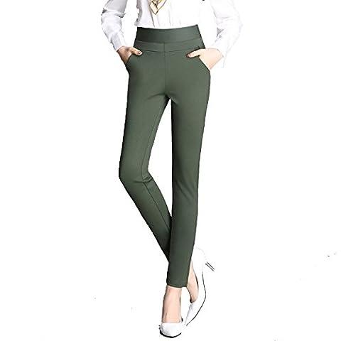 Snpgoij Pantalons Vêtements Jambières Taille Haute Minces Noirs Pantalons Pieds Pantalons à Crayons Fun Auto-culture All-match Forme,ArmyGreen-XXL