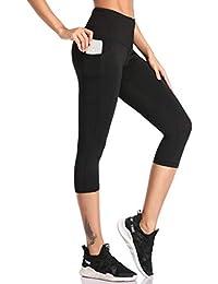 32317a117eaeb4 SIMIYA High Waist Leggings, Womens Running Tights With Pockets Power  Stretch Yoga Pants Slim Fit