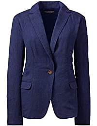 6535882920f Lands  End Classic Linen Jacket Semi Fitted Summer Blazer Single Breasted  RRP £100