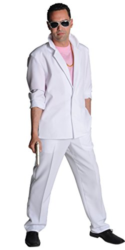 80's White Miami Suit for Fancy Dress
