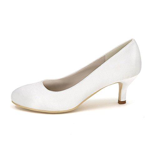 L@YC Donna Con Tacco alto Scarpe Di Seta Grandi Cantieri Di Nozze Scarpe Partito abito Da Sposa Multi-Colore 4852 Bianco