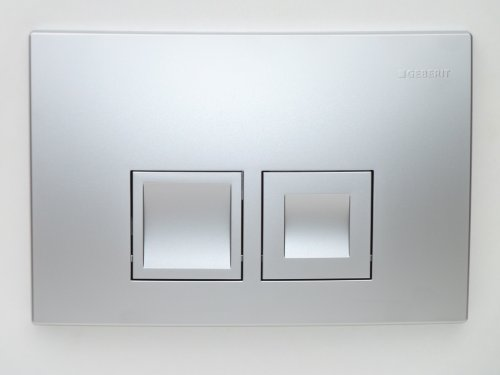 Geberit Duofix Basic UP 100 WC-Vorwandelement WC SET mit Platte Delta 50 matt chrom Schallschutzset, Wand WC Keramik mit Lotus-Biotech-Beschichtung ASLEP01B und WC-Sitz Absenkautomatik