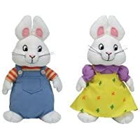 Ty Beanie Baby Max & Ruby - Lote de 2 conejos de peluche