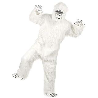 Vegaoo - Deluxe Yeti Kostüm für Erwachsene weiß - Einheitsgröße