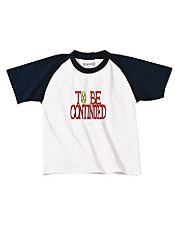 To Be Continued, Kids Baseball Tee - White & Navy